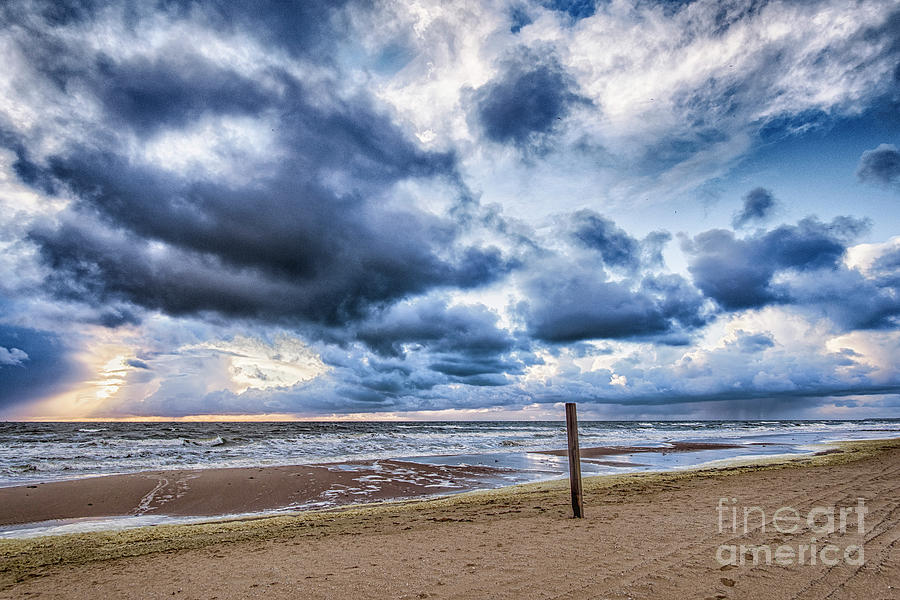 Dutch April Storm Sunset by Alex Hiemstra