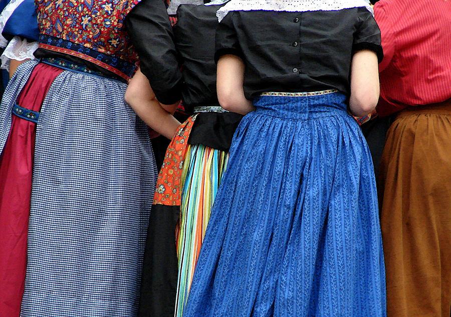 Dutch Photograph - Dutch Dancers In A Huddle by Michelle Calkins