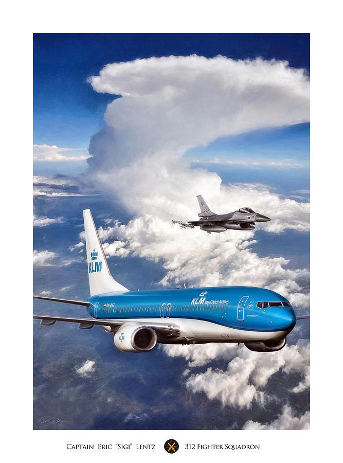 Aviation Digital Art - Dutch Duo by Peter Chilelli