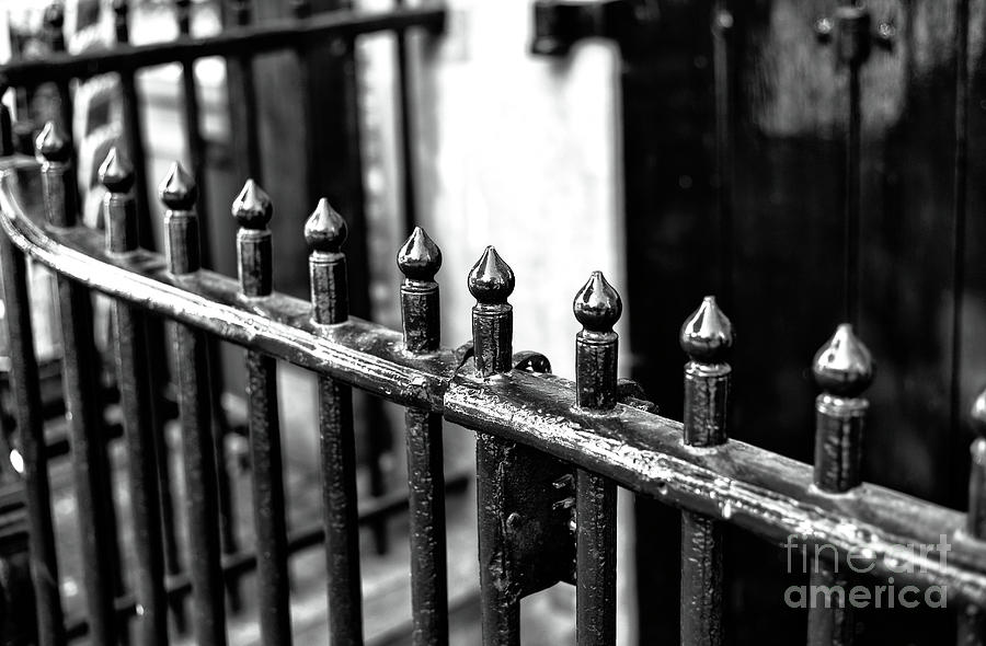 Wrought Iron Fence Photograph - Dutch Iron Mono by John Rizzuto