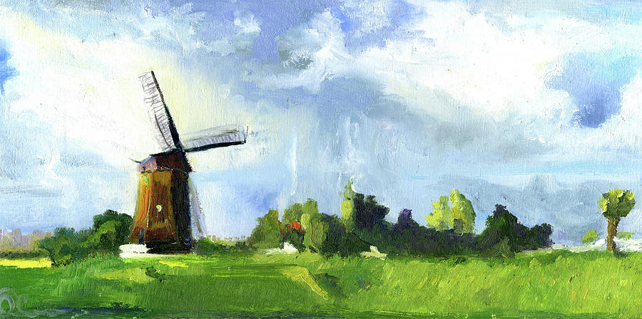 dutch landscape painting by lelia sorokina
