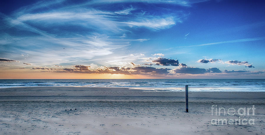 Dutch Spring Sunset at the Beach by Alex Hiemstra