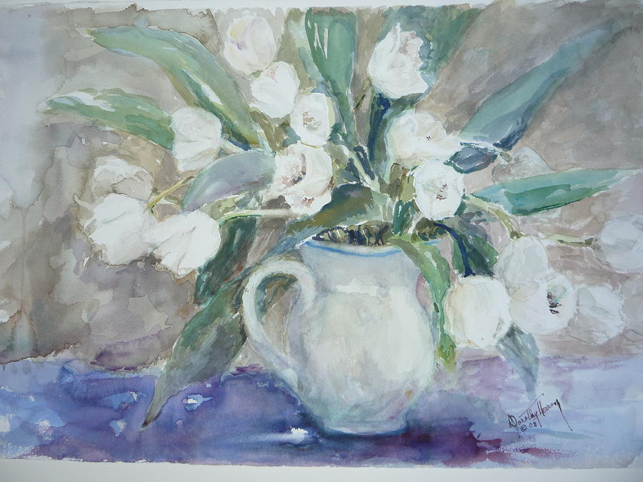 Still Life Painting - Dutch Tulips by Dorothy Herron