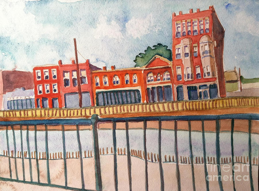 Lowell Painting - Dutton Street Watercolor by Debra Bretton Robinson