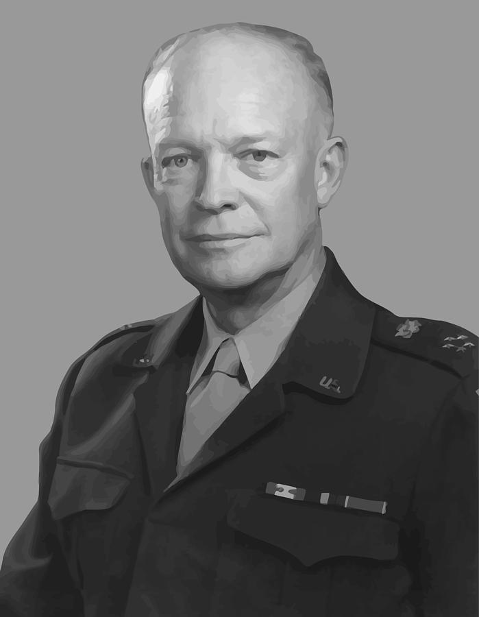 World War Two Painting - Dwight D. Eisenhower  by War Is Hell Store