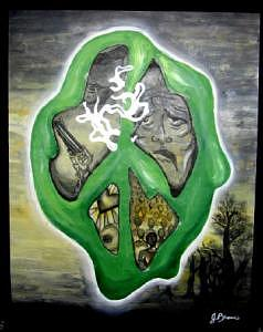 Peace Painting - Dying Peace by Jessica Brown