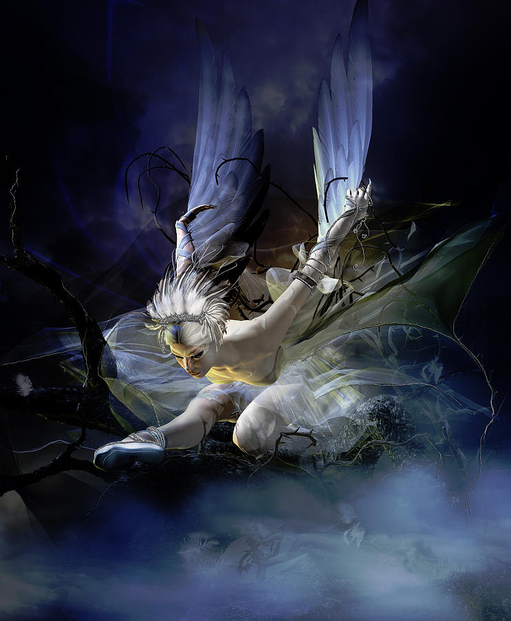 Dying Swan Digital Art