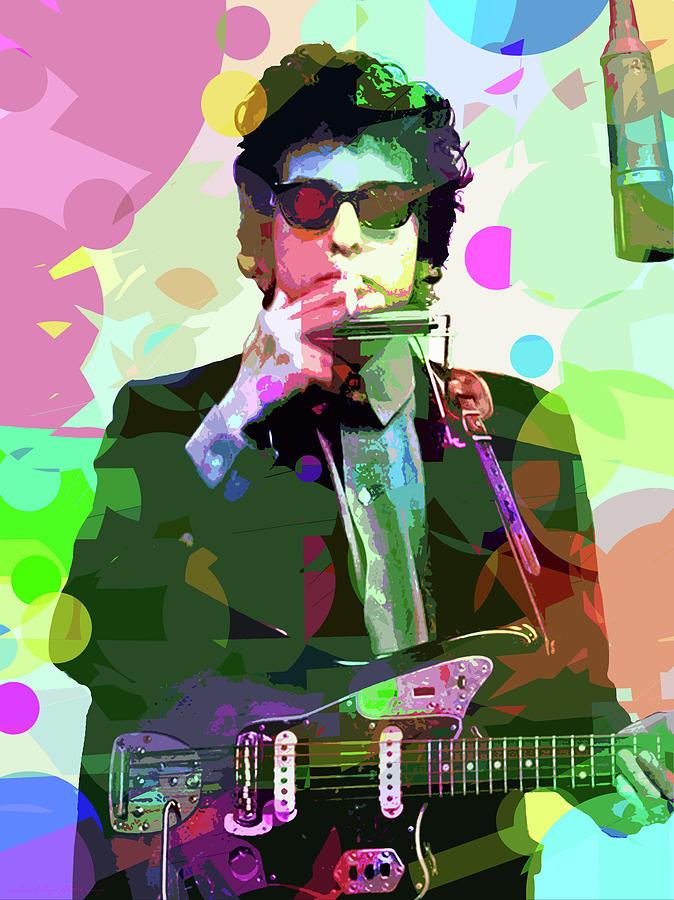 Dylan In Studio Painting