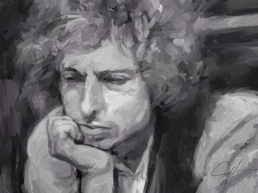 Dylan Digital Art by Scott Waters