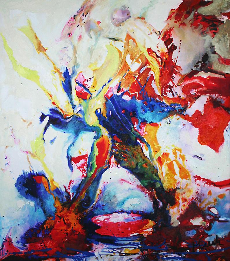 Abstract Painting - Dynamic 2 by Janusz Mulak