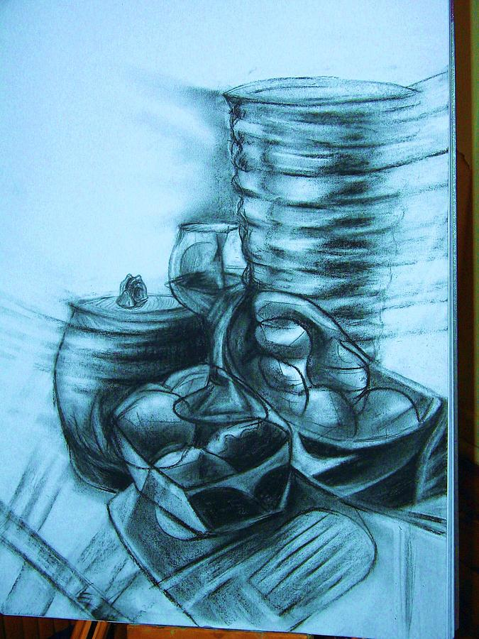 Dynamic Cubism Drawing by Moreno Pazin