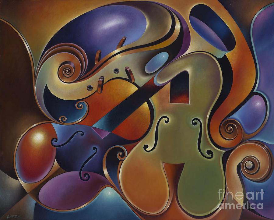 Dynamic Series IX Violins Painting by Ricardo Chavez-Mendez