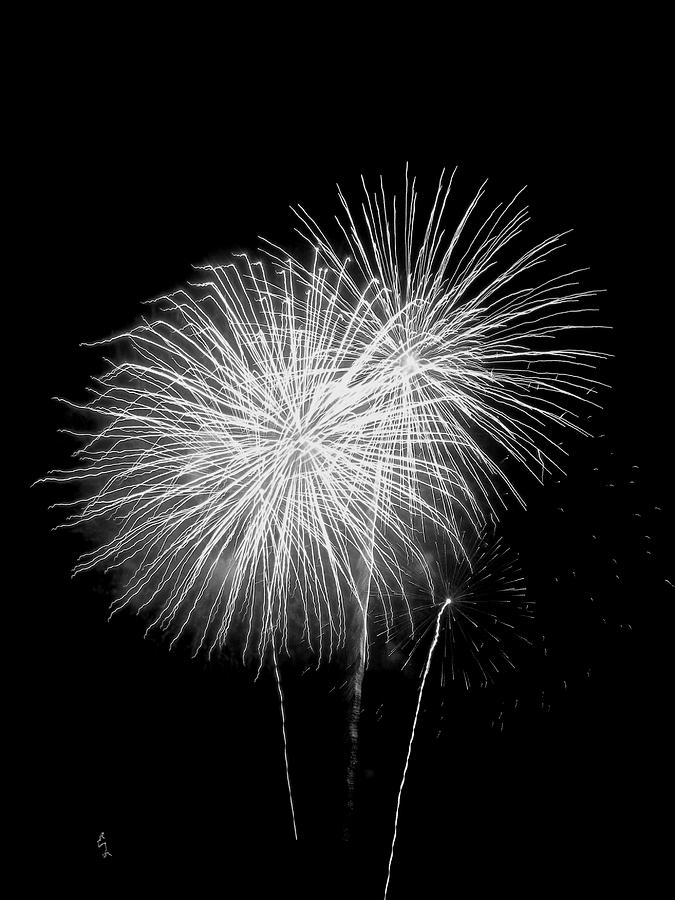 Fourth Of July Photograph - Bang Bang Black And White  by M Pace