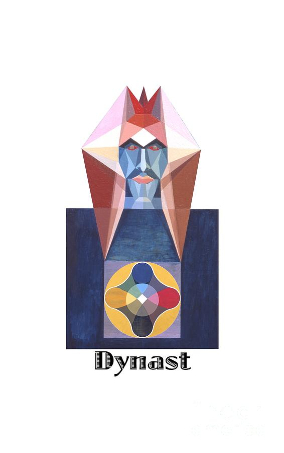 Perspectivism Painting - Dynast text by Michael Bellon