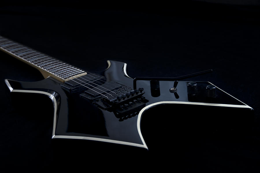 String Photograph - E-guitar by Melanie Viola