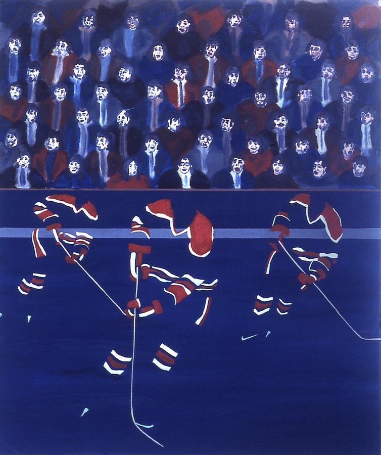 Ice Hockey Painting - E O by Ken Yackel