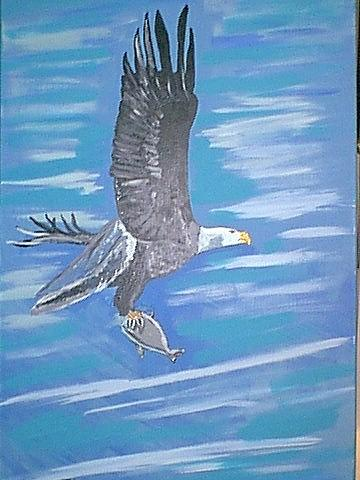 Eagel Painting - Eagel With Snack by Jeffrey Foti