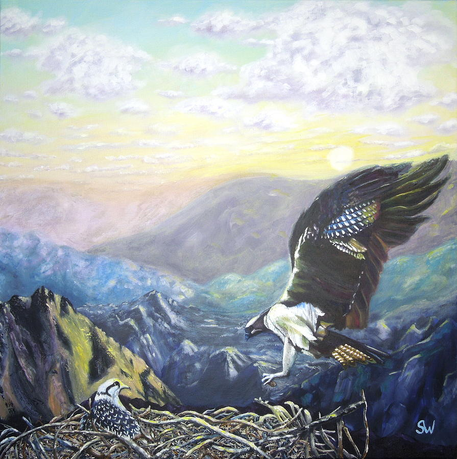 Eagle at home by Shirley Wellstead