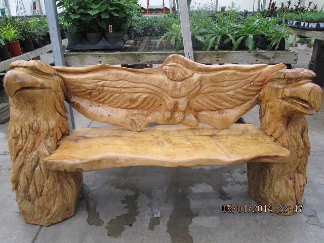 Eagle Bench Sculpture By Von Nicholson