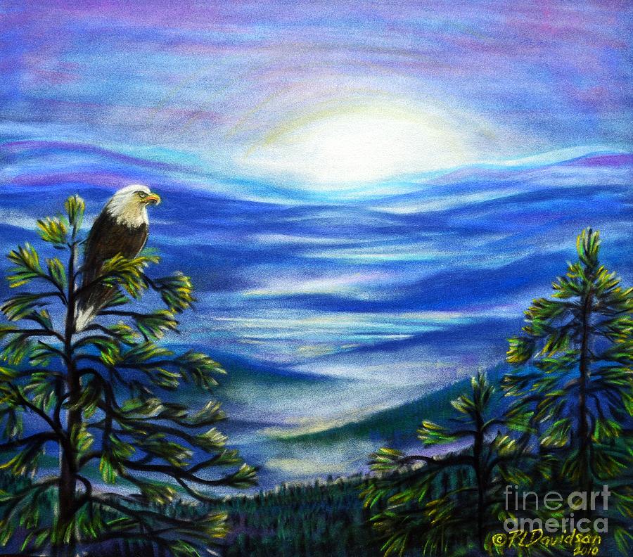 Blue Ridge Mountains Pastel - Eagle Blue Ridge Mountain Sunrise by Patricia L Davidson