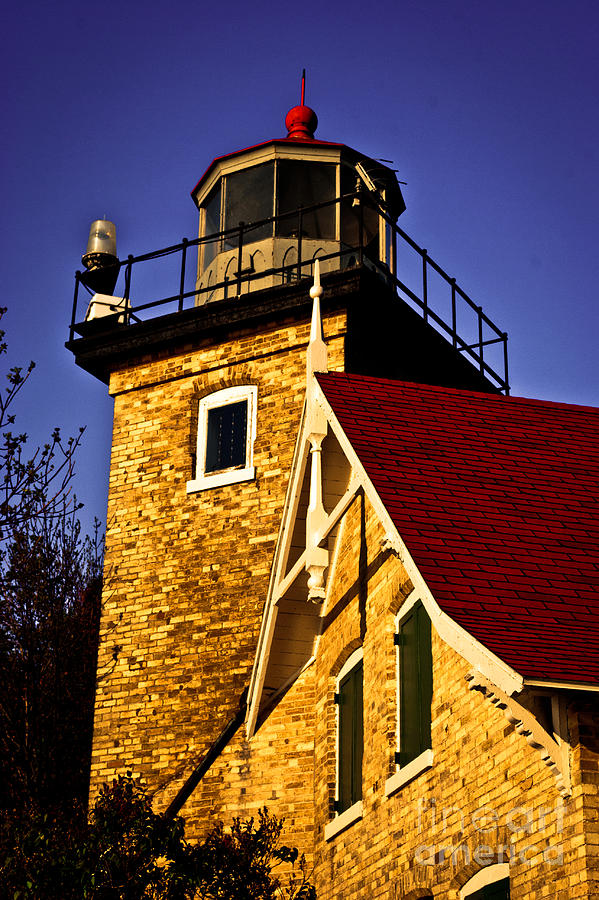 Door County Photograph - Eagle Bluff Lighthouse of Door County by Ever-Curious Photography