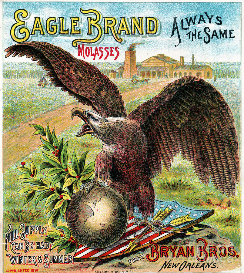 1891 Photograph - Eagle Brand Molasses.  by Granger
