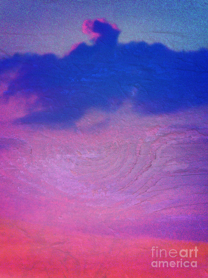 Sunset Digital Art - Eagle Cloud In The Sky by Rose  Hill