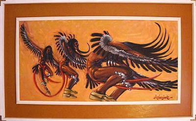 Native American Painting - Eagle Dancer by Larry Wetherholt