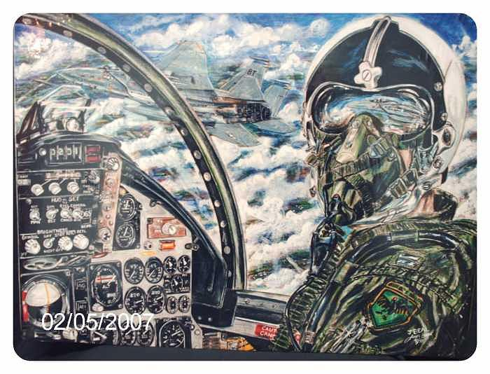 Airplane Drawing - Eagle Driver F-15A by James Beal
