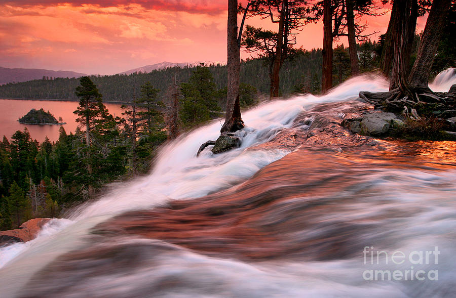 Waterfall Photograph - Eagle Falls Evening by Buck Forester