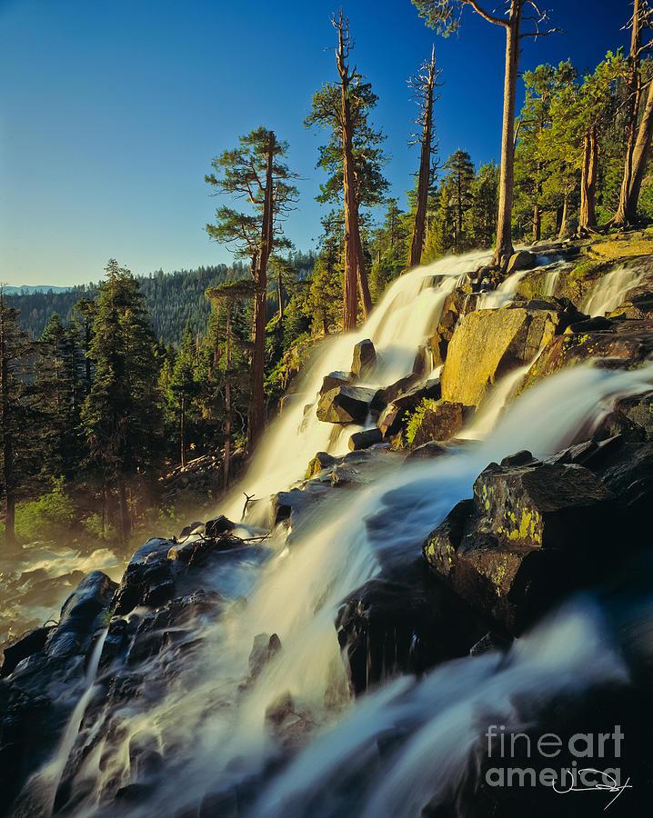 Lake Tahoe Photograph - Eagle Falls Lake Tahoe by Vance Fox