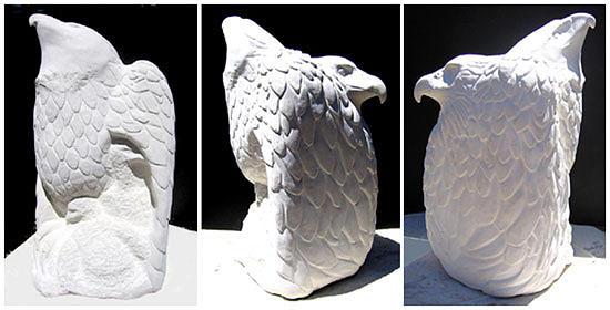 Wildlife Sculpture - Eagle Feather by Harriet Greene