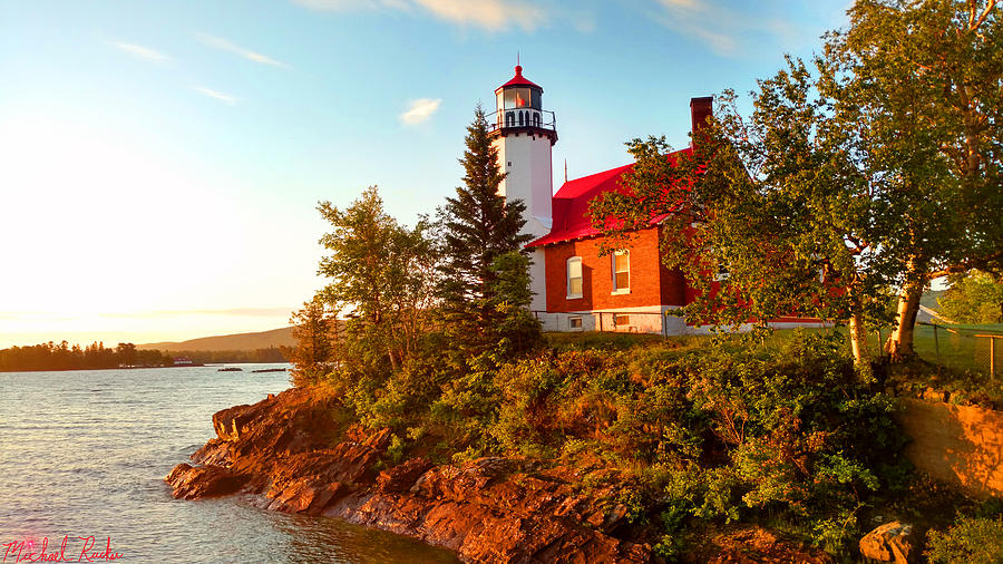 Lighthouse Photograph - Eagle Harbor Lighthouse, Michigan by Michael Rucker