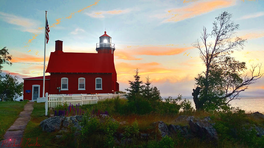 Lighthouse Photograph - Eagle Harbor Lighthouse On Lake Superior by Michael Rucker