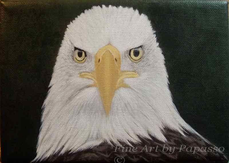 American Eagle Painting - Eagle Head by Kathie Papasso