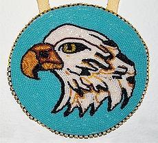 Eagle Jewelry - Eagle Head Medallion by Mary Favero