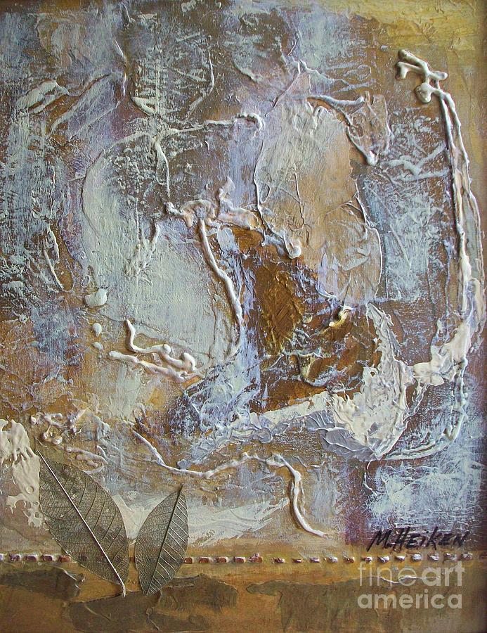 Leaves Painting - Eagle In Flight by Marsha Heiken