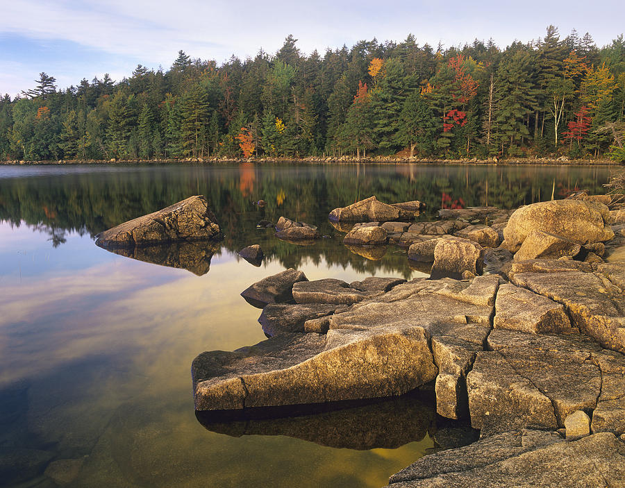 Eagle Lake Acadia National Park Maine Photograph by Tim Fitzharris