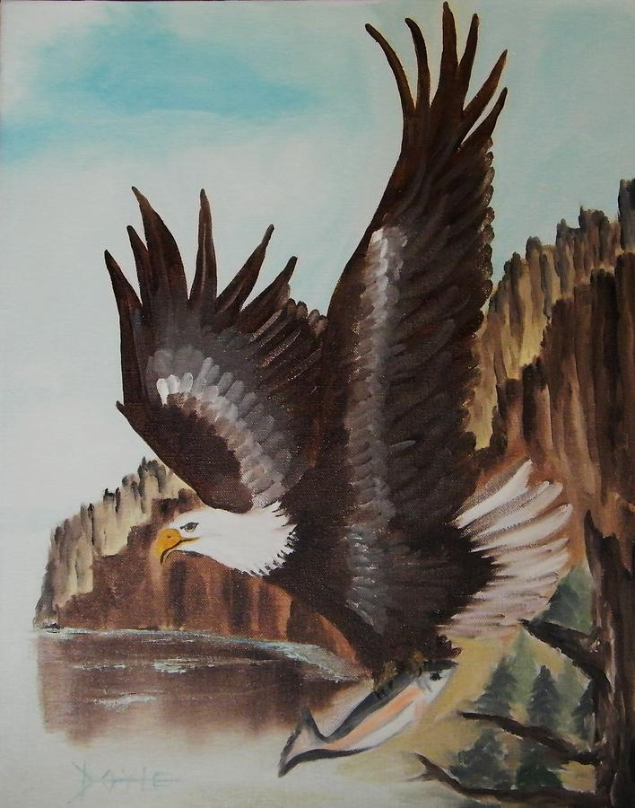 Birds Painting - Eagle Mount by Larry Doyle