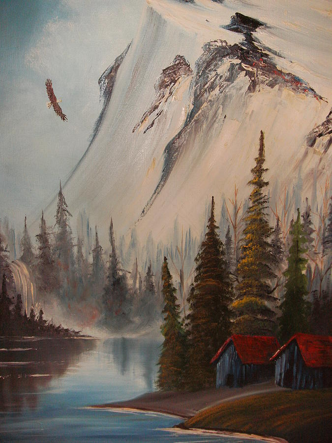 Snow Painting - Eagle Mountain by Scott Easom