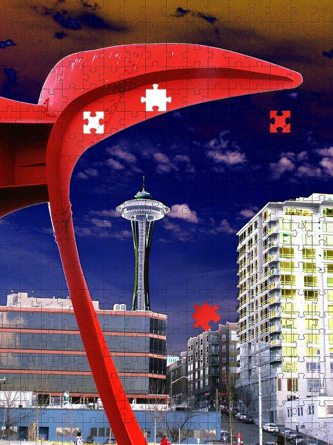 Seattle Digital Art - Eagle Needle by Tim Allen