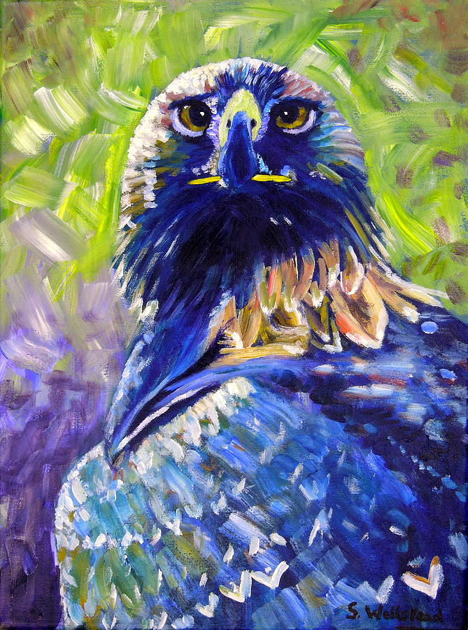 Eagle on alert by Shirley Wellstead