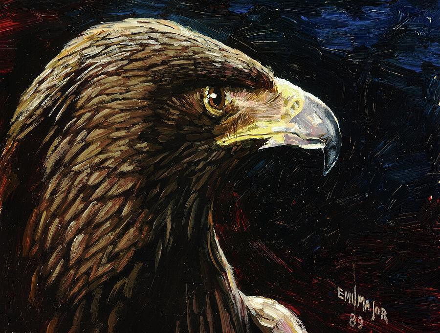 Eagle Painting - Eagle Profile by Emil F Major