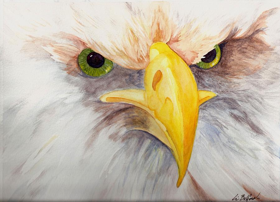 Eagle Painting - Eagle Stare by Eric Belford