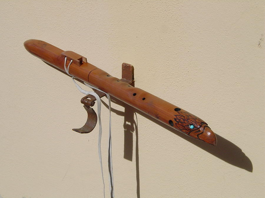 Flute Sculpture - Eaglehead Flute by R Eric Kee