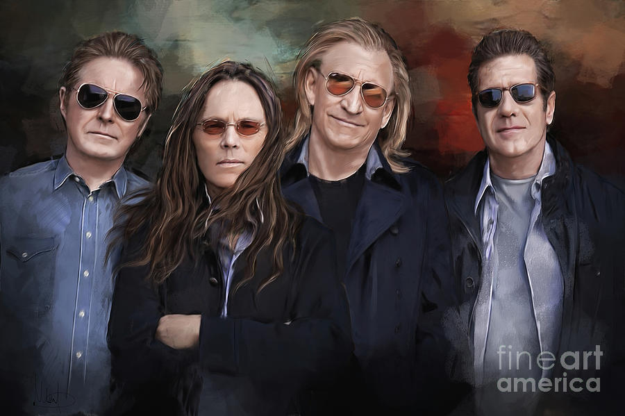 The Eagles Painting - Eagles Band by Melanie D