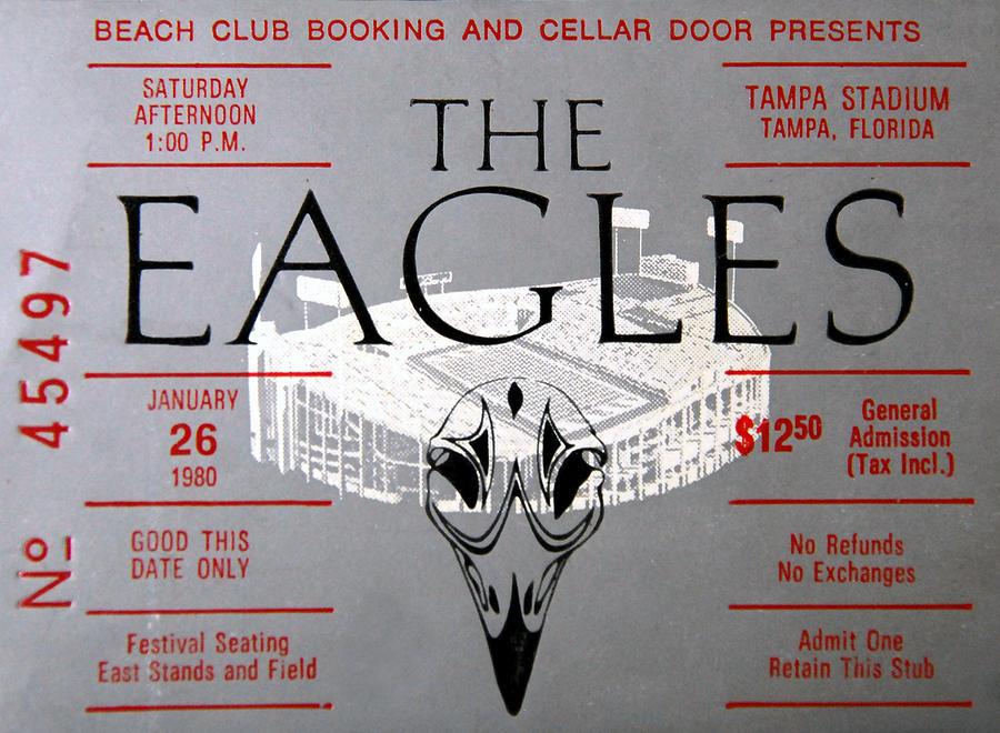 eagles concert ticket 1980 photograph by david lee thompson. Black Bedroom Furniture Sets. Home Design Ideas