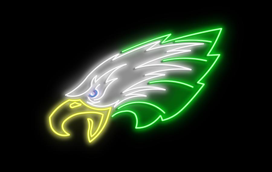 Eagles Neon Sign Digital Art by Ricky Barnard