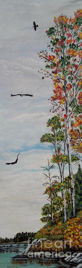 Bald Eagle Painting - Eagles Point by Marilyn  McNish