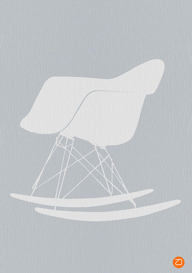 Eames Photograph - Eames Rocking Chair by Naxart Studio